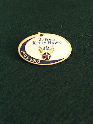 AIR FORCE ASSOCIATION AFA WINGED LOGO UP FROM KITTY HAWK 1903-2003 AVIATION PIN