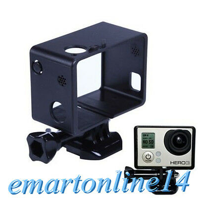 Protective Cover Border Frame Housing Mount For GoPro HD Hero 3 3+ W/LED Battery