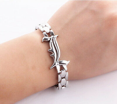 1X Anime Death Note Letter L CZ Inlaid Alloy Bracelet Handchains Cosplay Costume