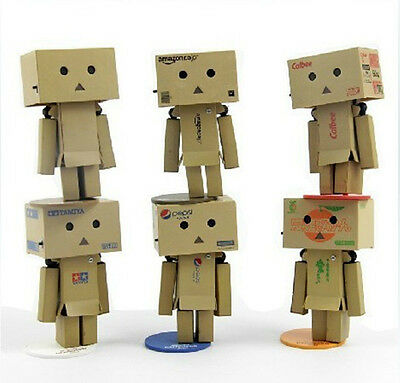 """6X Danboard Movable Shiny Danbo 8cm/3"""" Anime Figure New In Box No Battery"""