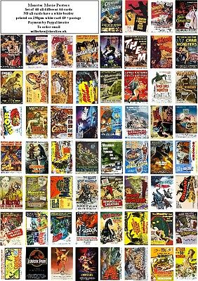 Monster Movie Posters  -60 All Different A6 Artcards