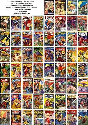 Science Fantasy Comic Covers-60 All Different A6 Artcards