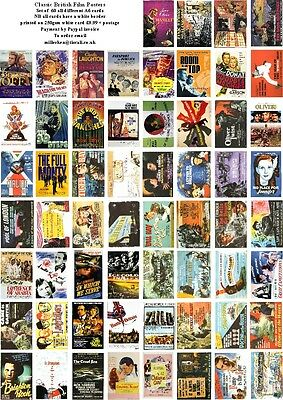 Classic British Film Posters-60 All Different A6 Artcards