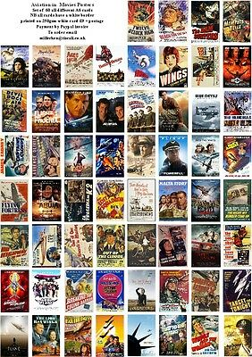 Aviation In  Movies Posters  -60 All Different A6 Artcards