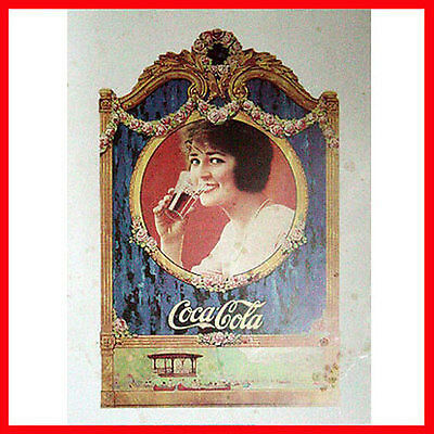QUADRO STAMPA VINTAGE COCA COLA  SU SUPPORTO MEDIUM DENSITY segni del tempo cod2