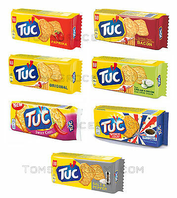 LU Crackers TUC PAPRIKA / ORIGINAL / BACON / BARBECUE Flavors 100g 3.5oz