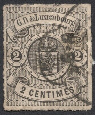 Luxembourg, 2 c. 1867, Scott # 14, used (a)