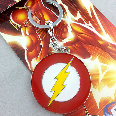 NEW DC COMICS The Flash Lightning Logo Metal Keychain HOT Combine Shipping