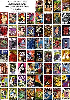 Modern Rock Concert & Promo Posters Series 2 - 60 All Different A6 Art Cards