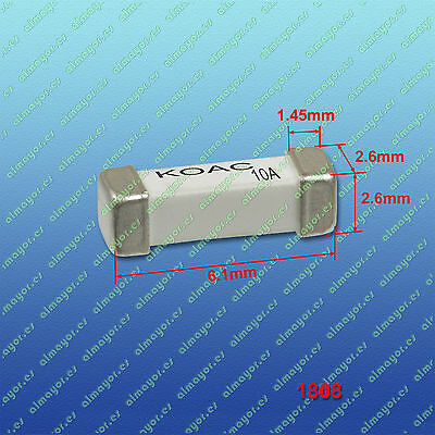 2Pcs Fuse SMD 1808 10A, fusible SMD 10A