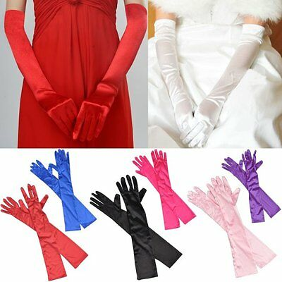 Ladies Bridal Wedding Evening Party Opera Prom Fancy Dress Stretchy Long Gloves