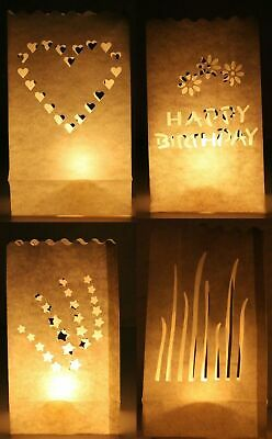10 Paper Lantern Bag Tea Light Candle Decoration Wedding Bday Party Engagement