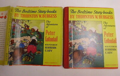 Bedtime Story-Books by Thornton Burgess, Adv of Peter Cottontail, DJ, 1946