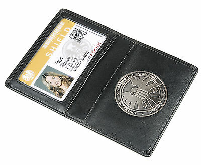 Agents of S.H.I.E.L.D. Shield Badge + Leather Holder + Skye's ID card