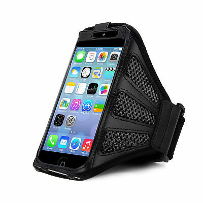 """iPhone 6 4.7"""" Grey Mesh Running, Jogging, Cycling Armband Mobile Phone Cover"""