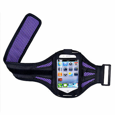 """iPhone 6 4.7"""" Purple Mesh Running, Jogging, Cycling Armband Mobile Phone Cover"""