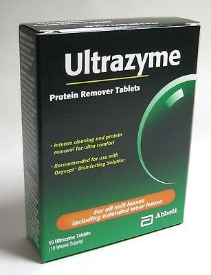 Abbott ULTRAZYME Weekly Protein Remover Tablets 10 Week Supply per Box