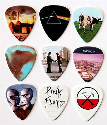 Pink Floyd Guitar Picks - Packet of 9 Different Plectrums