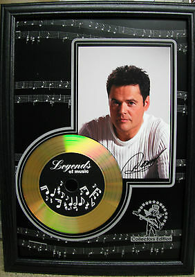 Donny Osmond Gold Disc Presentation (with preprinted Autograph!)