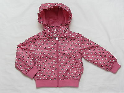 H&M HELLO KITTY PINK SHOWER PROOF JACKET  sizes  2, 2-3 6-7 & 7-8