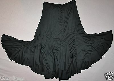 Nwt Adult size Small black  polyester MAMBO dance performance skirt item # 9222