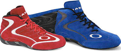 Oakley Race Mid Top FR Auto Racing Shoes - FIA / SFI-5 Rated Driving Blue / 7.0
