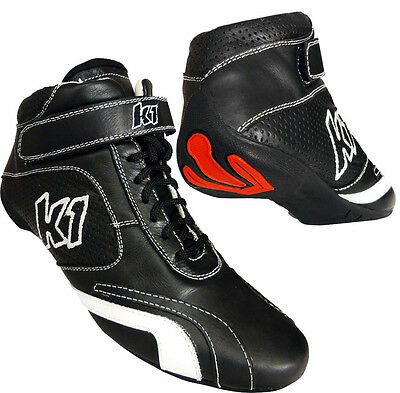 K1 - GT Nomex SFI Auto Racing Shoes - SFI-5 Rated Pro Nomex/Leather Race Shoes