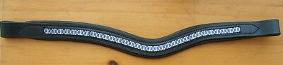 Blue & White Diamonte Style Leather Brow Bands