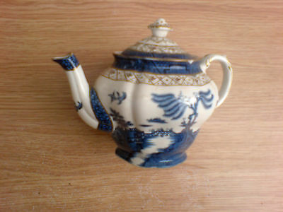 Booths Real Old Willow Lidded Small Teapot A8025