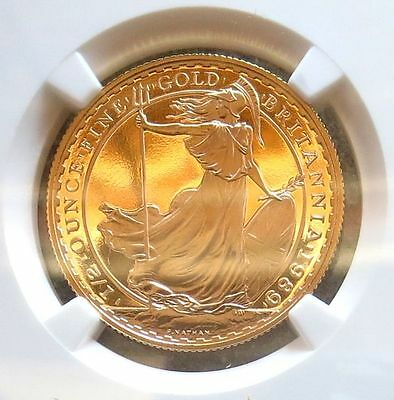 1989 Gold Great Britain 50 Pounds Ngc Proof 69 Ultra Cameo Only 338 Minted