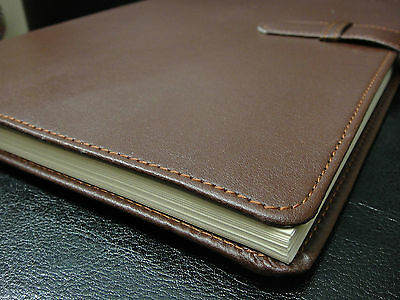 CALENDAR PLANNER BROWN 2014 2015 18 MONTH LEATHER NEW DAILY WEEKLY ORGANIZER!!!