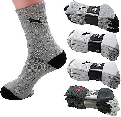 Lot 3-12 Pairs Mens Crew Quarter Calf Sport Athletic Socks Cotton Size 9-13 Cat