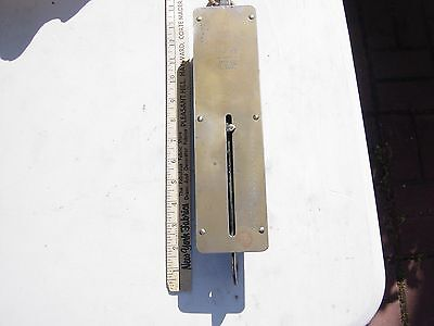 VINTAGE BRASS DETECTO HANGING SCALE SPRING ACTION-CAPACITY 100 LB NO 4100