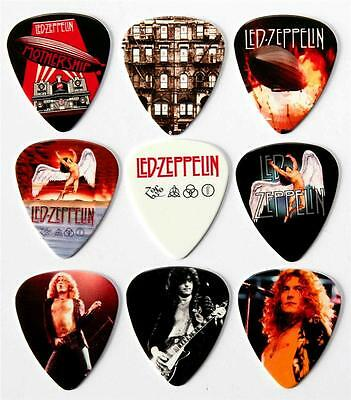 Led Zeppelin Premium Guitar Picks - Packet of 9 Different Plectrums