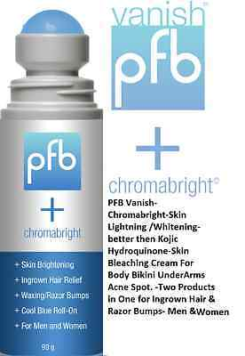 PFB Vanish + Chromabright©,  Skin Lightener and Bump Fighter - 120 ml..