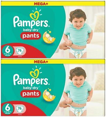 152 Couches Pampers Baby Dry Pantalons *MEGA Plus*  Taille 6,  15+ Kgs