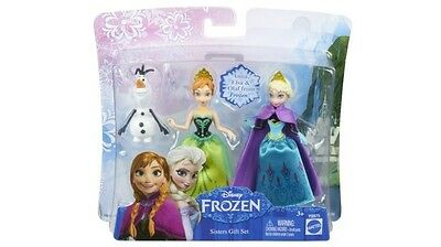 Disney Frozen Small Dolls Gift Set with Anna and Elsa and snowman Olaf