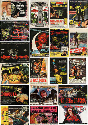 Hammer Horror Film Posters-60 All Different A6 Artcards