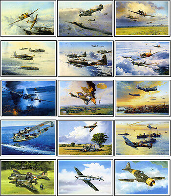 AIRCRAFT Of  WW2 IN ART -60 ALL DIFFERENT A6 ARTCARDS
