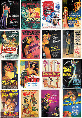 MOVIE POSTERS of 1940s-60 ALL DIFFERENT A6 ARTCARDS