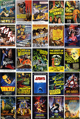 Horror Movie Posters- 60 All Different A6 Art Cards