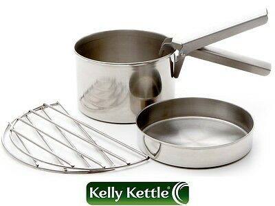 Cook Set - Large - for 'Base Camp' or 'Scout' Kelly Kettle® (Stainless Steel)