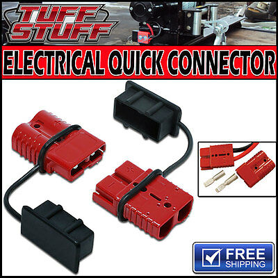 BATTERY QUICK DISCONNECT 12V PLUG 350 AMPS- 2 GAUGE FOR WINCH / BOOSTER CABLES