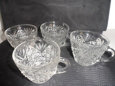 LOT OF 4 AMERICAN MADE TEA CUPS - GLASS CUPS