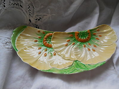 1930'S Carlton Ware Butter Cup Crescent Dish - RARE HARD TO FIND