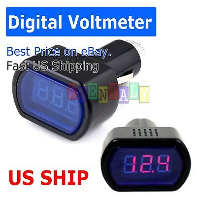 New LCD Cigarette Lighter Voltage Digital Panel Meter Voltmeter Monitor Auto Car