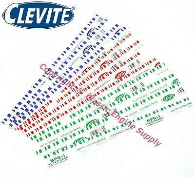 New 12 Pack Of Clevite Plastigage Assortment- 4 Sticks Each of Blue Green Red