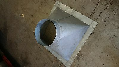 aluminum abatement  air duct adapter square to round 12 24