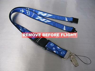 free shipping!Airlines Boeing 747 Blue Lanyard