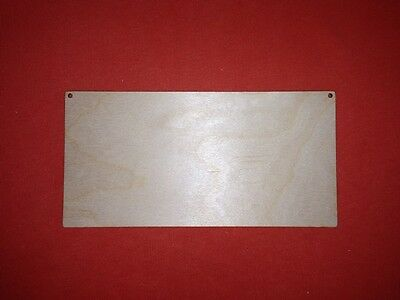 PLAQUE 20 x 10cm PLAIN UNPAINTED BLANK WOODEN PLAQUE WALL HANGING SIGN GIFT TAG